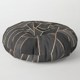Black Night Floor Pillow