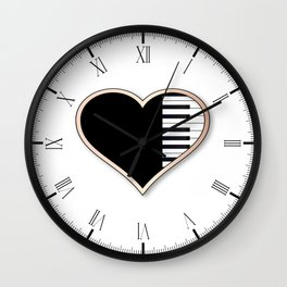 Love Piano Wall Clock
