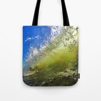 surf Tote Bags featuring Surf by Nicklas Gustafsson