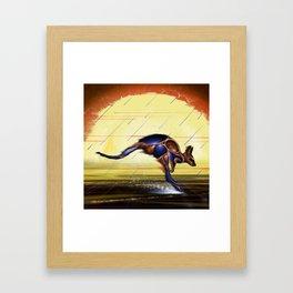 Kangaroo Dreaming Framed Art Print