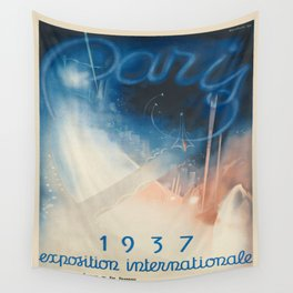 Vintage poster - Paris Wall Tapestry