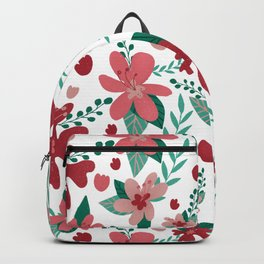 Pretty Flower pattern valentaine color palette red pink Tiffany colors  Backpack