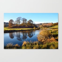 Golden light on the River Brathay Canvas Print