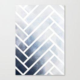 winter herringbone Canvas Print
