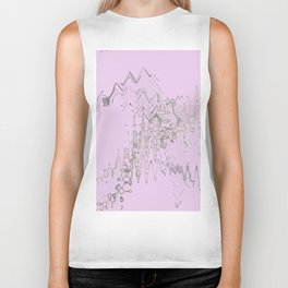 Another weird blurry and shaky colorful shapes hovering over weird wall Biker Tank