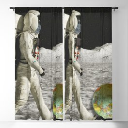 Moon Shot #collage Blackout Curtain