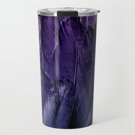Blue Purple Feathers Travel Mug