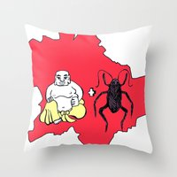 budapest Throw Pillows featuring Budapest by Finah Ehsan