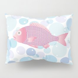 Snapper and bubble Pillow Sham