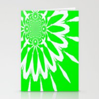 lime green Stationery Cards featuring Lime Green Modern Flower by 2sweet4words Designs