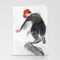 skateboard Stationery Cards featuring skateboard by Crooked Walker