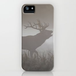 Roaring stag iPhone Case