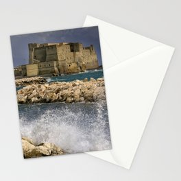 Napoli. Waves on the rocks. Stationery Cards