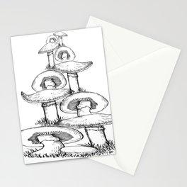 fungi christmas tree Stationery Cards