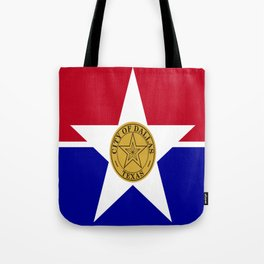 American cities-  Flag of Dallas. Tote Bag
