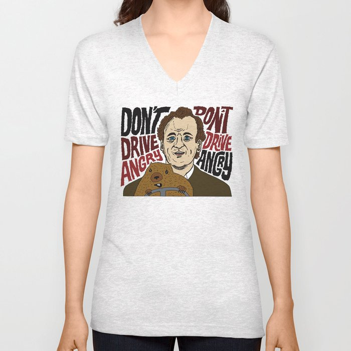 Don't Drive Angry Unisex V-Neck