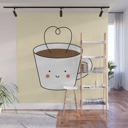 Kawaii Coffee Cup Wall Mural