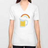happiness V-neck T-shirts featuring Happiness by Boots