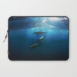 Swimming with Dolphins Laptop Sleeve