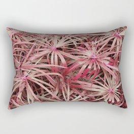 Pink Tinged Leaves Rectangular Pillow