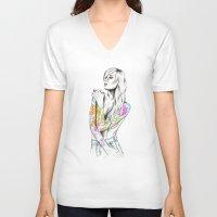 phoenix V-neck T-shirts featuring Phoenix by 13 Styx