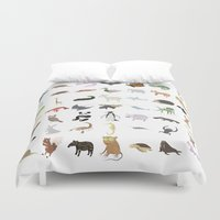 transformer Duvet Covers featuring Animals by Anthony Massingham