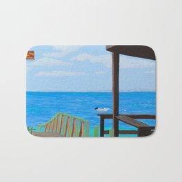 Lookout along Grand Case Beach Bath Mat