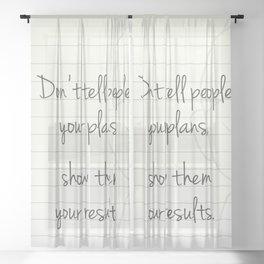 Motivational Buddha Quote Sheer Curtain