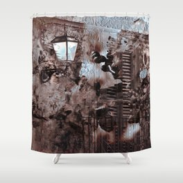 Floral Sicilian Architecture Shower Curtain