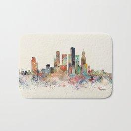 singapore skyline Bath Mat