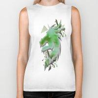 dragon Biker Tanks featuring Dragon by Sarah Maurer