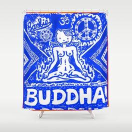 Buddha Kitty Shower Curtain