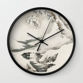 Snowscape by Kōno Bairei Wall Clock
