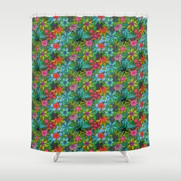 Pattern kitties and flowers Shower Curtain