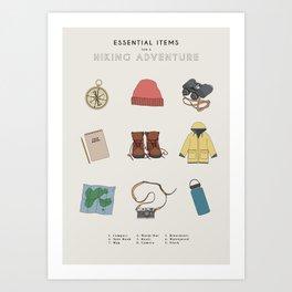 Hiking Things Art Print