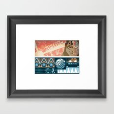 Korra and Amon Banners Framed Art Print