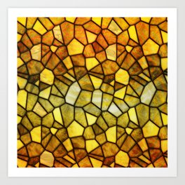 Amber Stained Glass Art Print