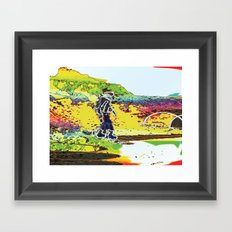 Snow Boarding Framed Art Print