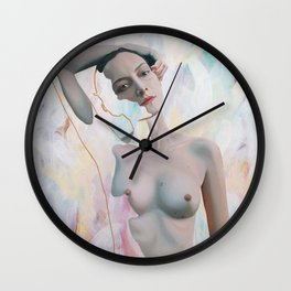 Ollie with White, Red and Green Wall Clock