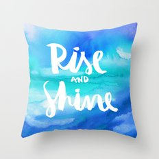 Rise And Shine - Collaboration by Jacqueline Maldonado and Galaxy Eyes Throw Pillow
