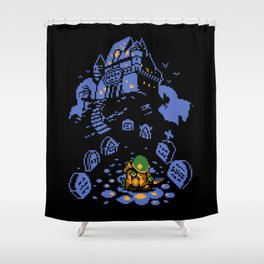 8-bit Tonberry Shower Curtain