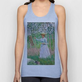 1887-Claude Monet-In the Woods at Giverny-91x97 Unisex Tank Top