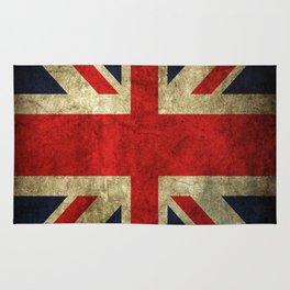 GRUNGY BRITISH UNION JACK  DESIGN ART Rug