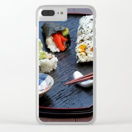 Sushi Plate Clear iPhone Case