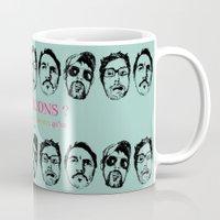 boys Mugs featuring Boys, Boys, Boys by la belette rose