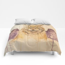 Lynx with wings Comforters