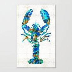 Blue Lobster Art by Sharon Cummings Canvas Print