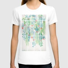 Winter in Glasshouses II White Womens Fitted Tee SMALL