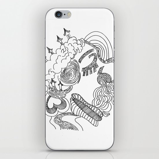dreams in line iPhone & iPod Skin