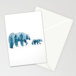 Smoky Mountain Bear Mom and Cub Stationery Cards